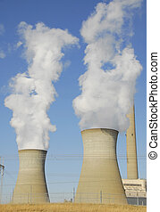 Cooling Towers at a large power generating plant