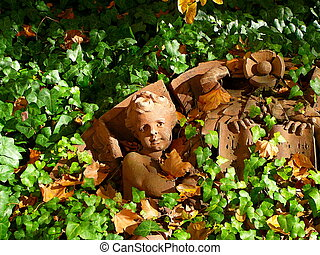 Fallen Angel - Architectural Detail of fallen cherub from...