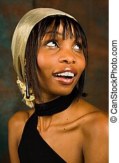 African american - Young African American girl, in her...