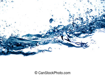 water drops 12 - on white background