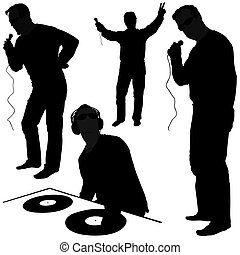 DJ silhouettes 1