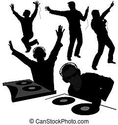DJ silhouettes 2 - DJs 02 - Deejay silhouettes - Hight...