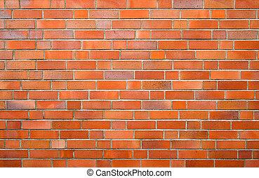 brick wall - Brick wall. The brick, also clay brick or...
