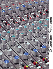 Mixing console knobs