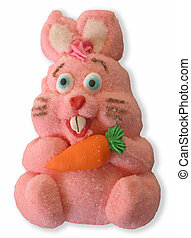 Easter Bunny - An Easter bunny made out of marshmellow,...
