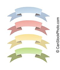 4 Banners - Banner illustration in 4 colors