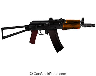 Kalashnikov - The automatic device Kalashnikov on a white...