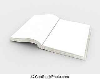 book - white open book ready to be personalized