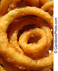 Golden Onion Rings - Crispy fried golden onion rings