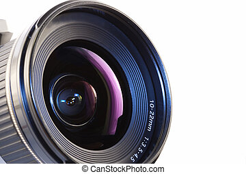 camera lens - A close-up of a camera lens
