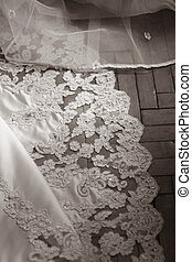 Wedding dress - Bottom of a wedding dress with a manual...