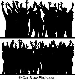 Hands Up 4 - Hands Up Silhouettes 4 - High detailed black &...