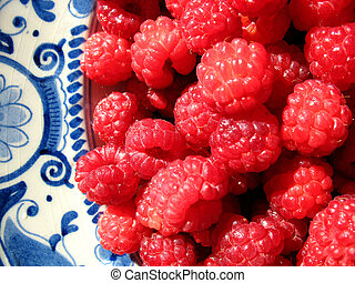 Close up raspberries - Close up shot of luscious raspberries...