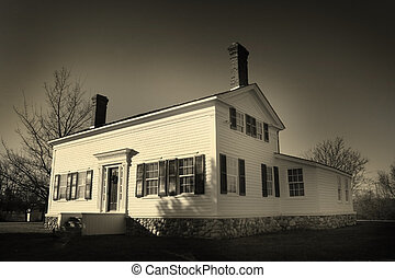 HISTORIC HOUSE - Historic house in sepia color tone