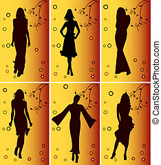 Girls silhouettes - Fashion girls silhouettes