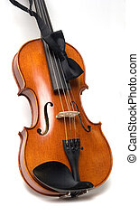 Violin Gig - A full size student model violin with a bow tie...