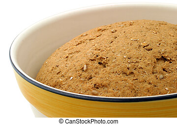 Hearty Bread Dough - close-up - Multi grain bread in 12-inch...