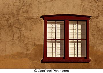 Tucson window - Southwestern style adobe window in...