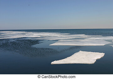 Ice Flow - sheets of ice flow out to sea
