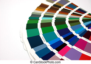 color chart with different color patterns...