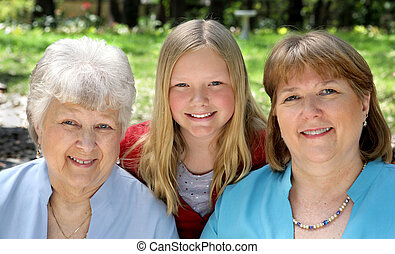 Three of a Kind - Three generation that look very much a...