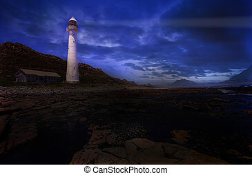 Lighthouse #2 - The Slangkop Lighthouse at Kommetjie,...