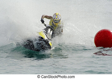 Jet-Ski - Jet ski rider on the race