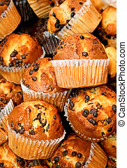 Muffins - Bunch of fresh hand made muffins cakes