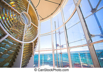 Lighthouse 6 - Inside the Slangkop Lighthouse at Kommetjie,...