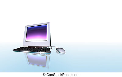 Isolated computer - Desktop computer illustration