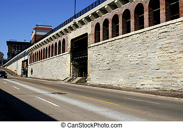 Downtown St. Louis - Road by the Downtown St. Louis by...