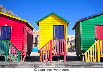 Muizenberg beach #5 - Multi-colored dressing rooms on the...