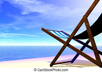 Beach chair - 3d render illustration of beach chair detail