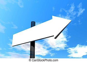 Blank signpost - Digital illustration of an empty signpost...