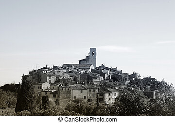 St Paul 35 - The small hilltop town of St Paul, France -...
