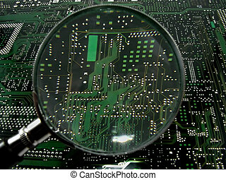 Motherboards - Photo of a motherboard of the computer, made...