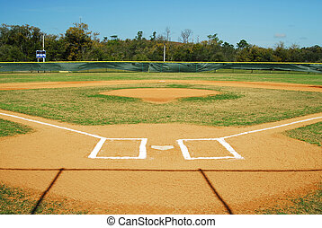 Baseball Field - Shot of an empty baseball field