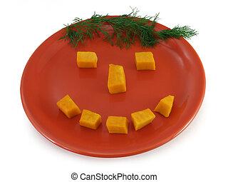 Happy food - pumpkin smiley
