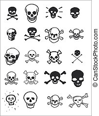 Various Skulls - Various graphic design images of skulls for...