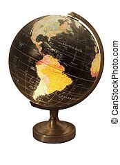 World Globe focused on america