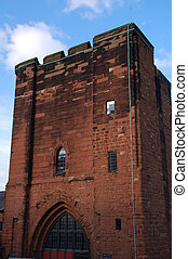 Chester Castle Keep built from sandstone by William the...