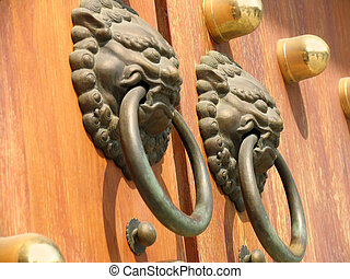 Door Handle at Jing An Temple, Shanghai, China