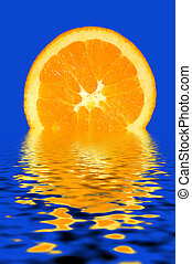 Refreshing Orange Slice - Fresh Orange Slice on the Water