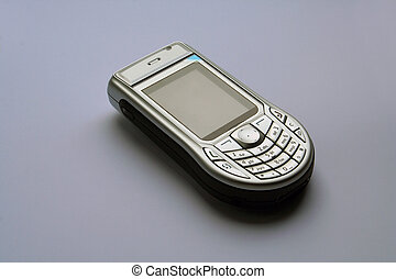 cell phone - phone on the white background