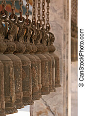 Temple Bells - Close up of temple Bells in a Bhuddhist...