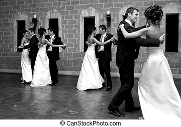Dance Effect - A bride and groom opening the dance floor
