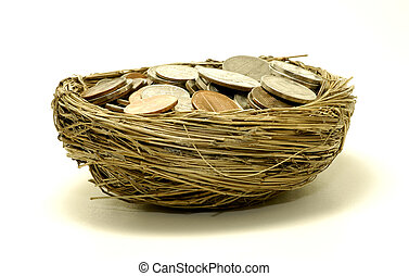 Savings - Photo of Nest With Coins - Money Concept