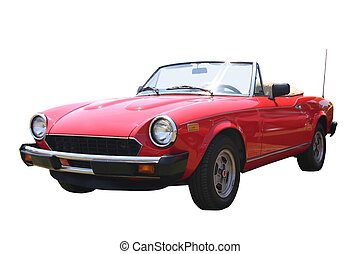 Small Red Convertibl