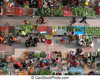 Market - Sibu Central Market in Sibu Town,Sarawak is the...