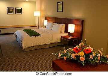 Hotel guest room - A large and comfortable guest room in a...